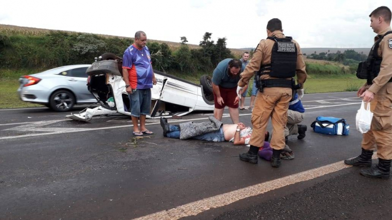 0cfe882f071b Homem fica gravemente ferido em capotamento entre Toledo e Cascavel ...